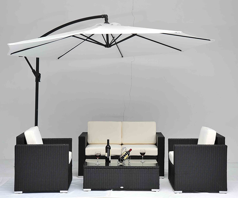 Amazon.com : Outdoor Rattan Set 4 Pcs Sofa Wicker Sectional Garden Patio  Furniture BroyerK : Patio Lounge Chairs : Patio, Lawn U0026 Garden