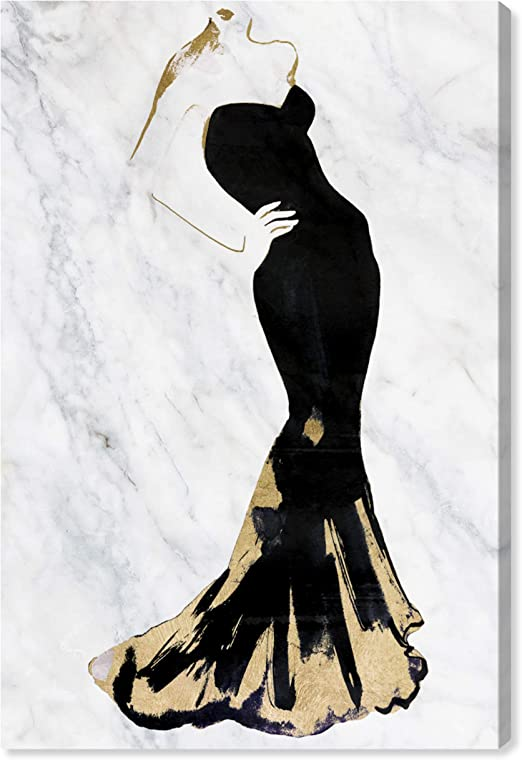 Coco No.5 Art Canvas Art Wall Art Paris Art Black /& White Art Fashion Art Dress