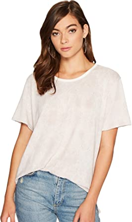 392183d81f467 Amazon.com  Free People Womens Print Me Perfect Tee  Clothing