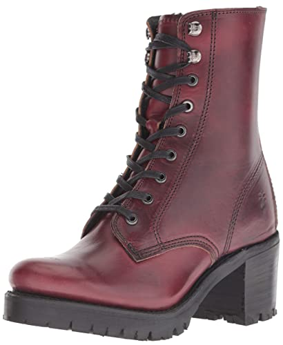 Amazon Com Frye Women S Sabrina Moto Lace Up Combat Boot Ankle