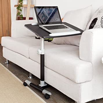 Nursing Home Auto Touch Overbed Table, Bed Table, Laptop Table, Sofa Side