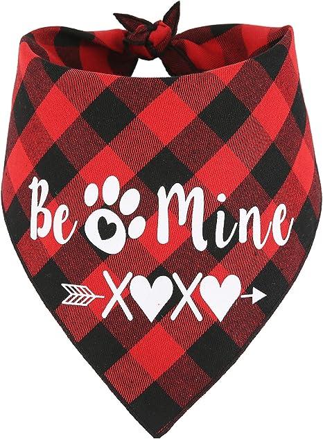 SOFT Valentines Plaid Dog Bandana Cat Bandana