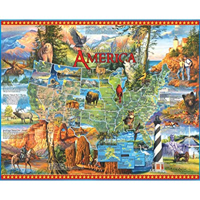 White Mountain Puzzles National Parks - 1000 Piece Jigsaw Puzzle: Toys & Games