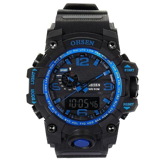 AMPM24 OHS243 Reloj Hombre Analógico Digital Alarma de Goma: Amazon.es: Relojes