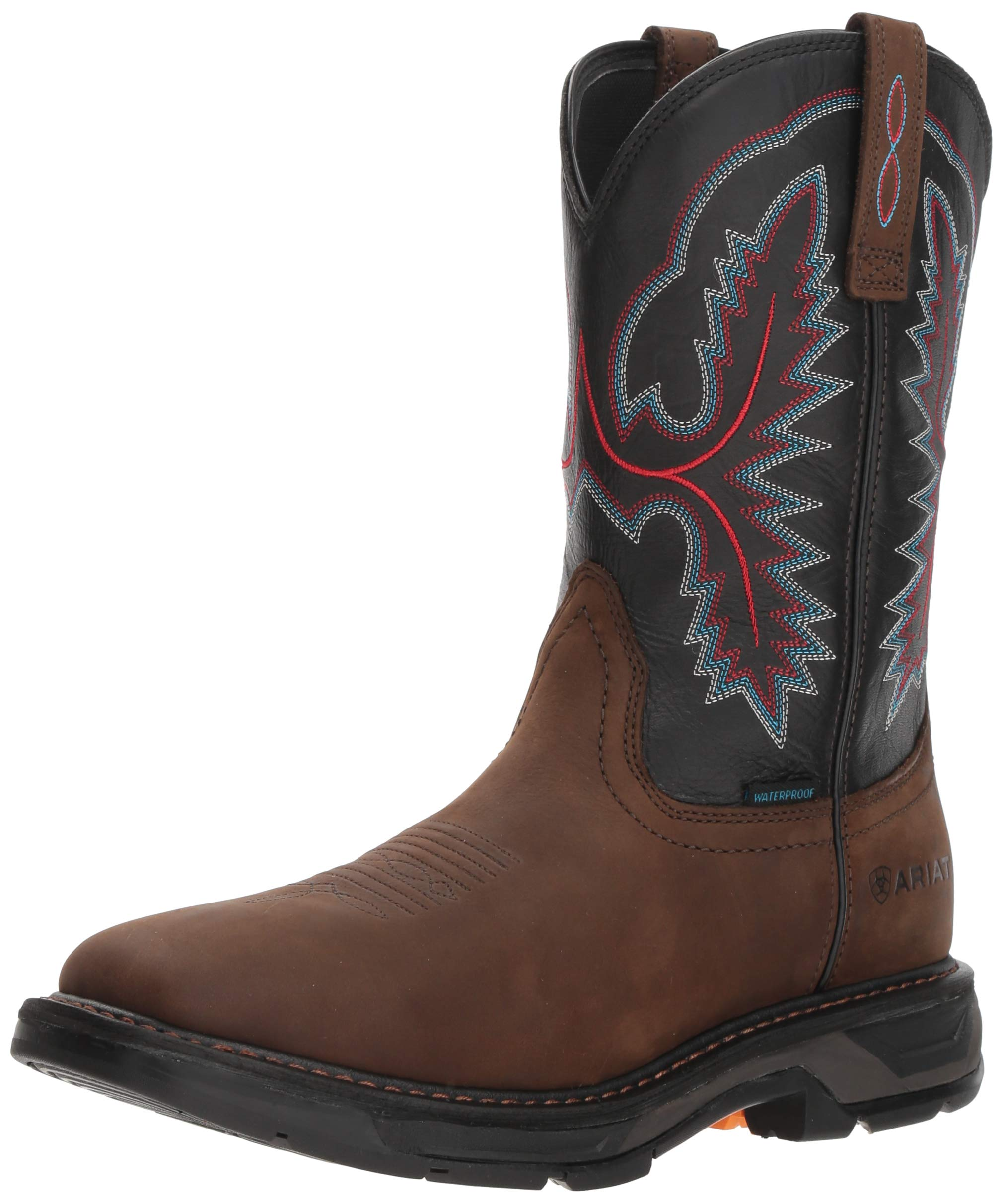 Ariat Work Men's WORKHOG XT H2O Boot, oily distressed brown, 9.5 D US