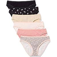 Amazon Essentials Bragas elásticas de algodón para bikini. Ropa interior tipo bikini para Mujer