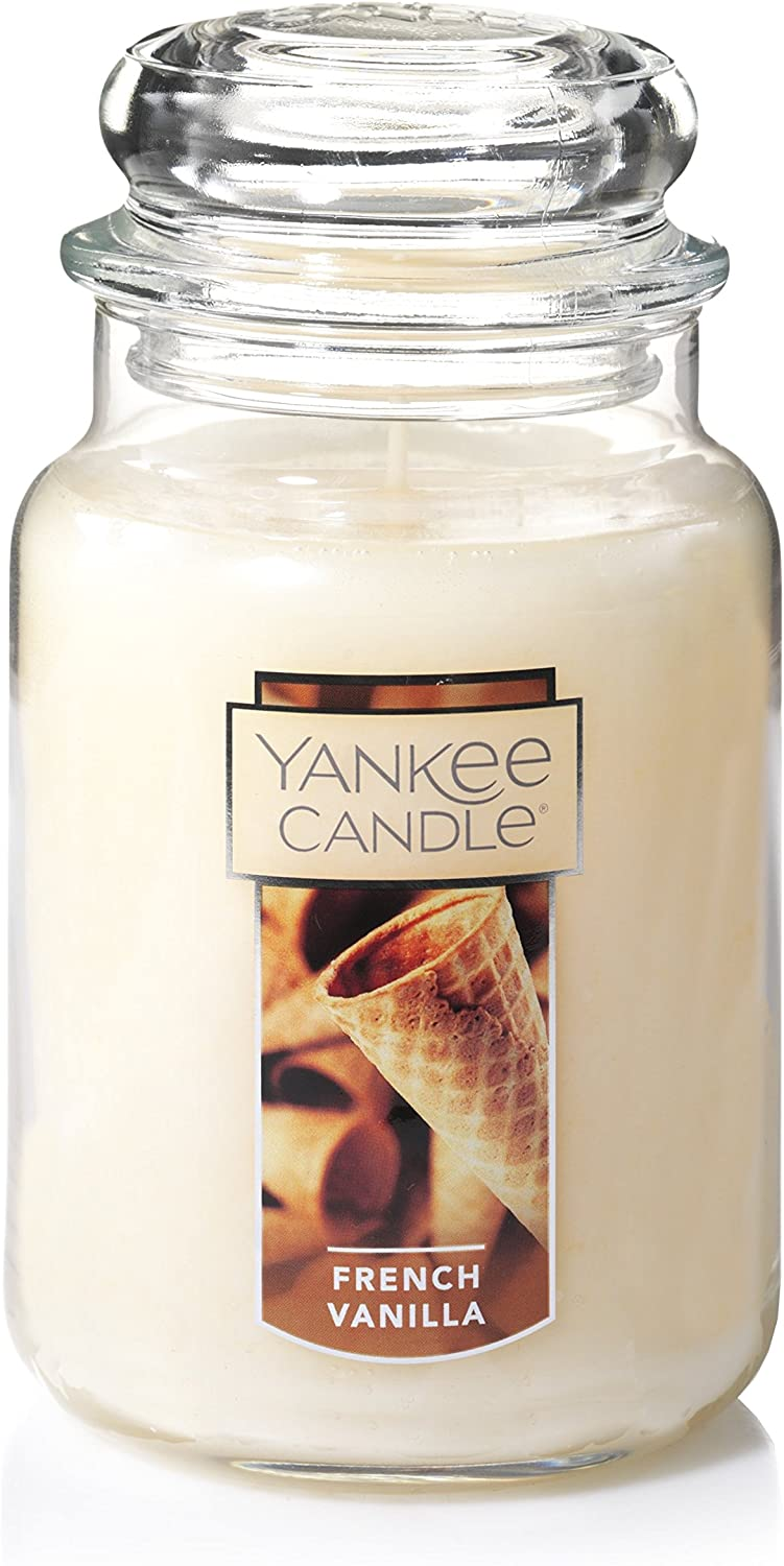 Amazon Com Yankee Candle Large Jar Candle French Vanilla Home Kitchen