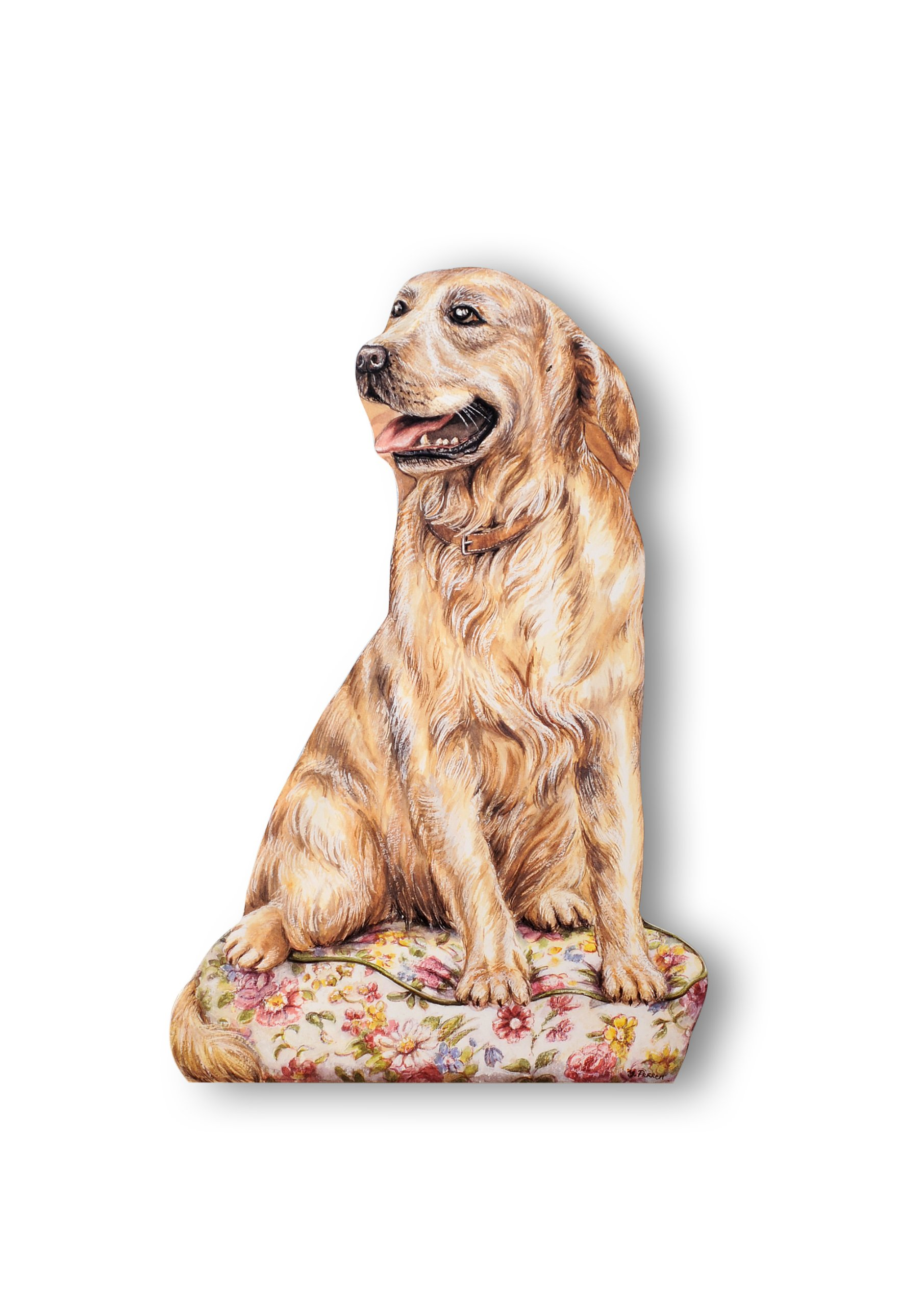 Stupell Home Décor Golden Retriever Decorative Dog Door Stop, 19 x 0.5 x 12.5, Proudly Made in USA