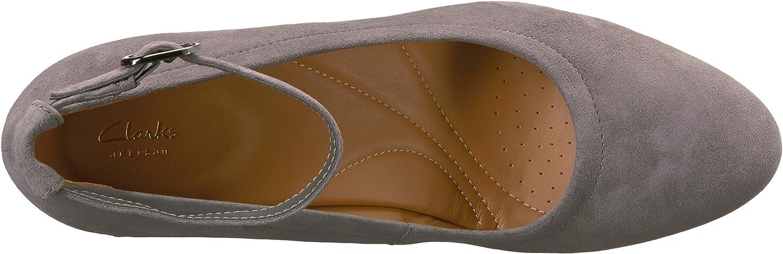 Clarks - Chaussure Chryssa Jana Femme Grey Suede