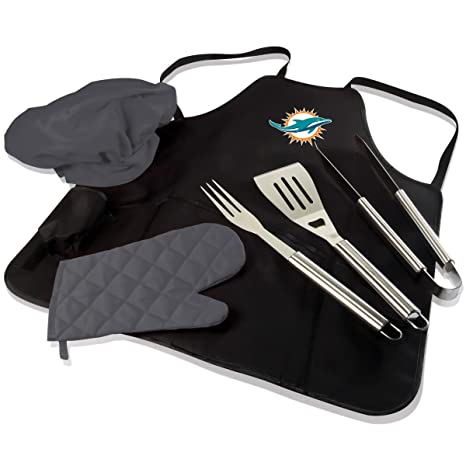 620cc37f Amazon.com : NFL BBQ Apron Tote Pro, Miami Dolphins : Sports & Outdoors
