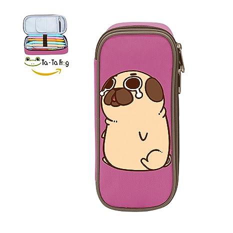 Amazon.com: clásico Puglie Pug estuche doble cierre gran ...