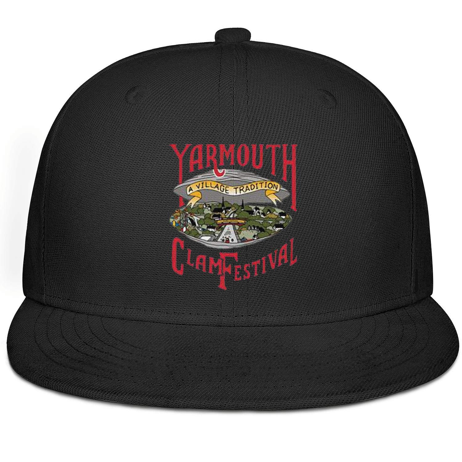 Yarmouth Clam Festival Red Baseball Caps Limited Edition Snapback Mens Adjustable Snapback Hat Flat Bill