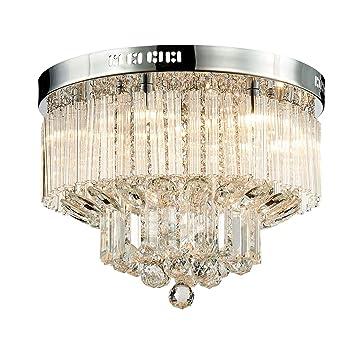 Saint Mossi Plafonnier En Cristal Eclairage Led Luminaire Suspension Luminaire Pour Salle A Manger Salle De Bains Chambre Salon 12 G9 40 X 25 X 40 Cm