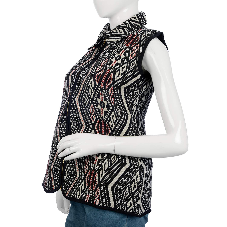 XXL 27.5x50 100/% Polyester//Cotton Shop LC Delivering Joy Black Geometric Woven Pattern Jacket for Women