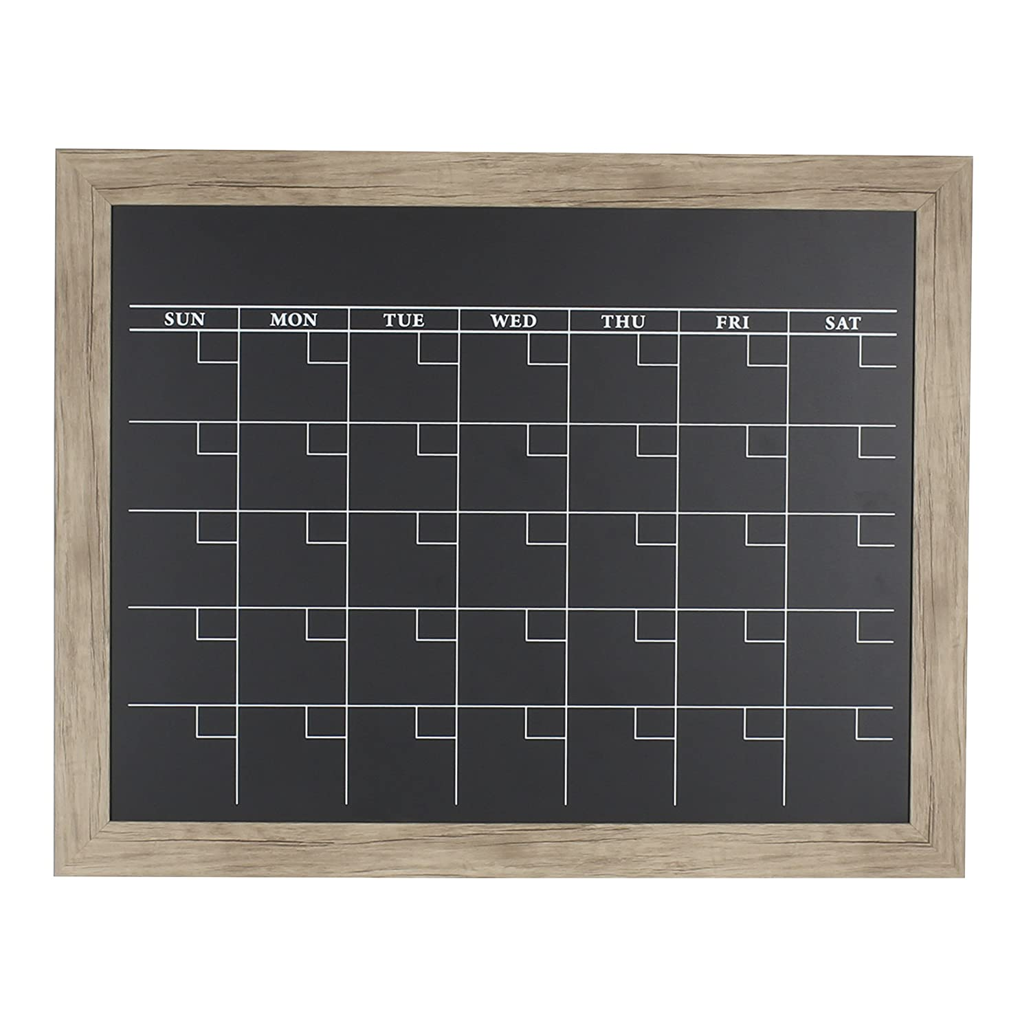 DesignOvation Beatrice Framed Magnetic Chalkboard, 23x29, Gray Uniek