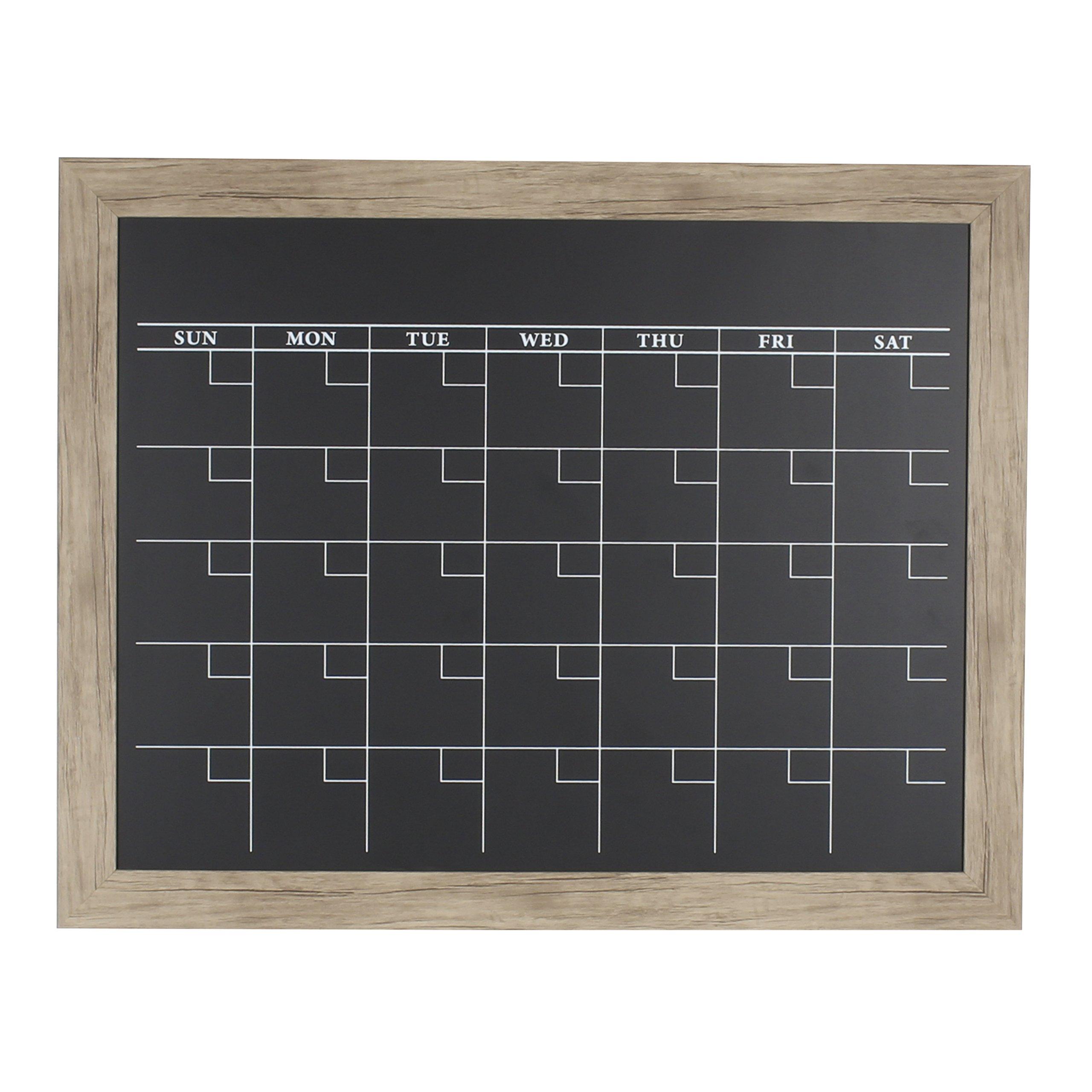 DesignOvation 209448 Beatrice Framed Magnetic Chalkboard Monthly Calendar Board