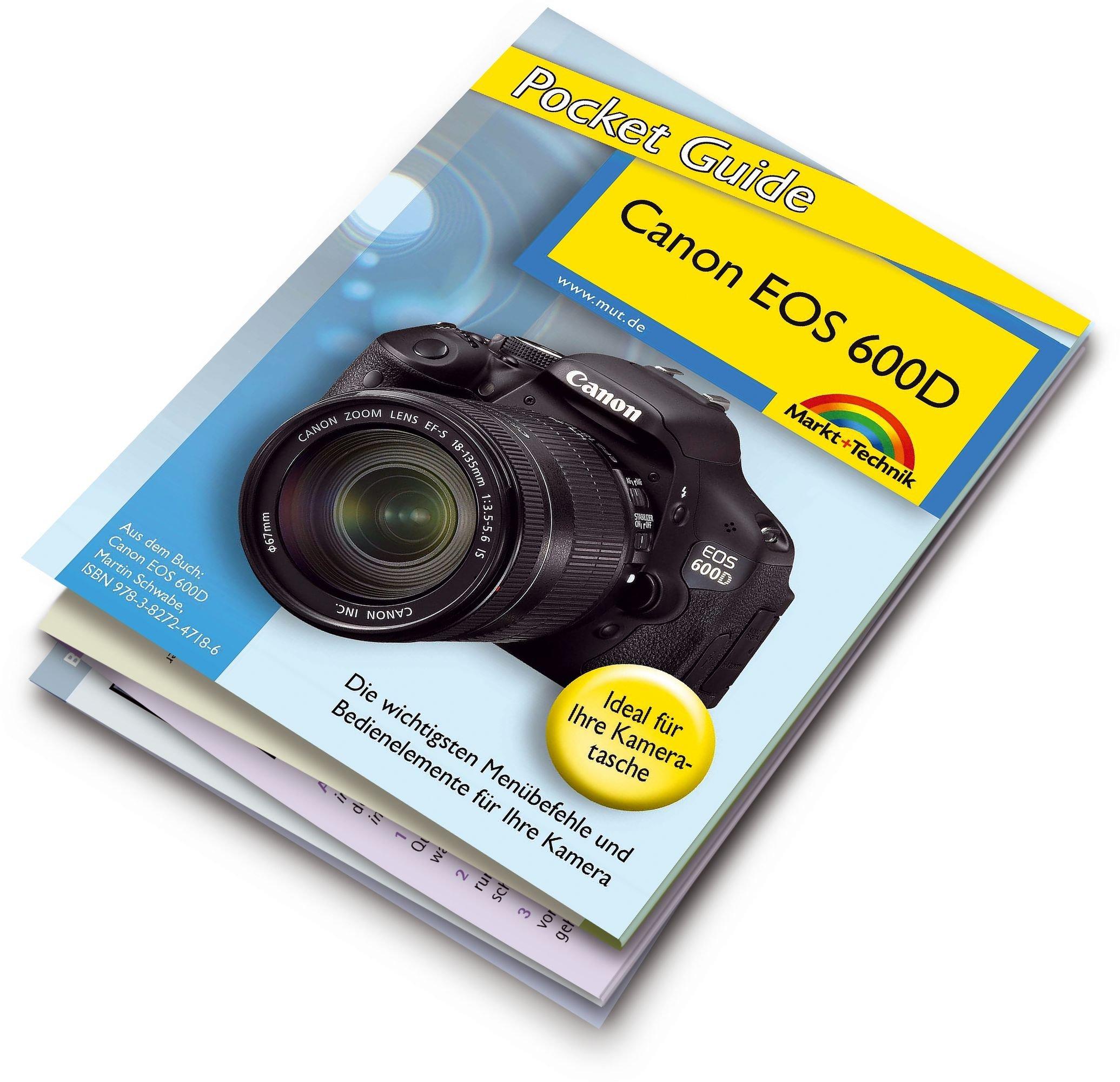 Canon EOS 600D Pocket Guide: 12-seitige Klappkarte