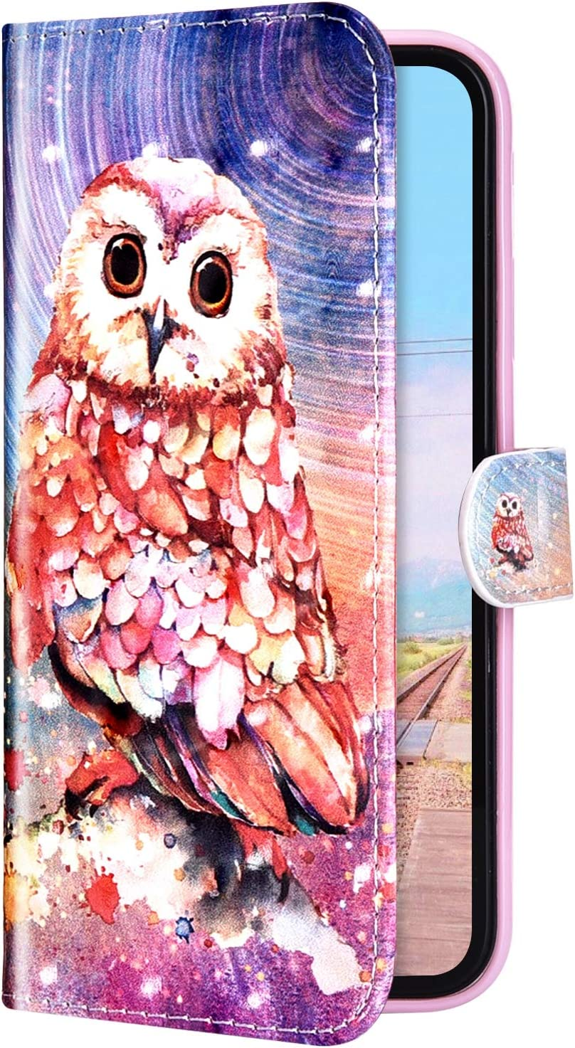 Herbests Compatible with Xiaomi Redmi Note 6 Pro Wallet Case Protective Flip Leather Cover Retro Luxury 3D Glitter Sparkle Pattern Design Phone Case Card Holder with Kickstand,Pink Flower