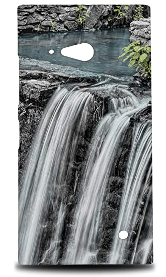 Amazon com: Waterfall River Lake 4 Hard Phone Case Cover for