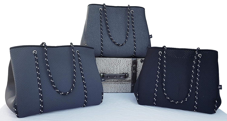 Pole Tribe Designer Tasche Für Frauen, Neopren Schulterriemen Tragetasche, groß Hobo Anthrazit