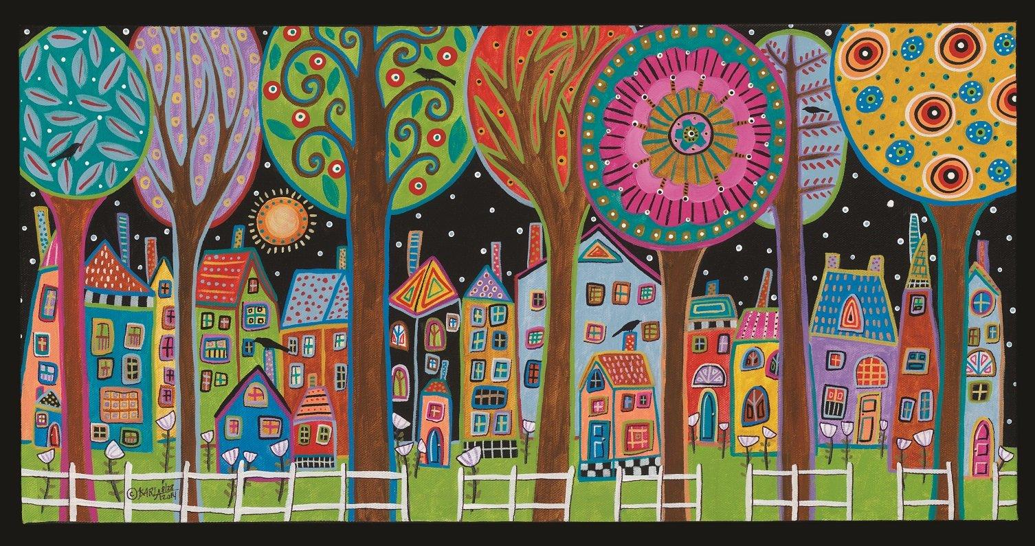 Artifact Puzzles - Karla Gerard Evening Stars Wooden Jigsaw Puzzle