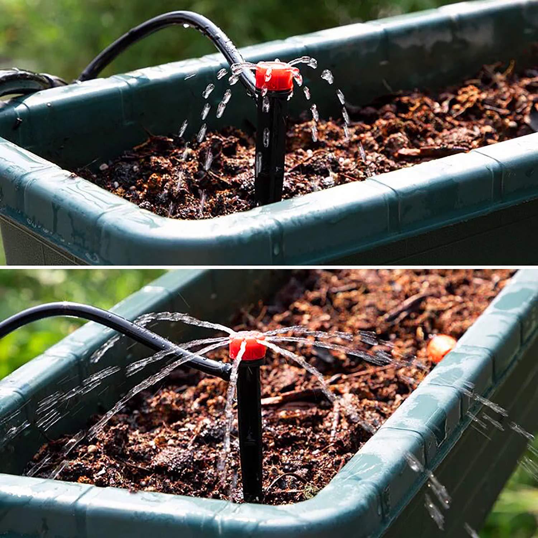 Elcoho Verstellbare Bew/ässerungs-Tropfpistole Tropfen Wasserfluss Bew/ässerung Tropfer Anschluss f/ür 4//7 mm Rohr mit Aufbewahrungstasche
