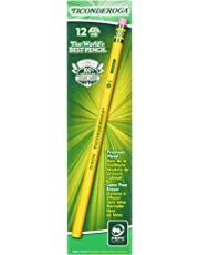 Ticonderoga Pencils, Wood-Cased Graphite #2 HB Soft, Yellow, 12-Pack (13882)