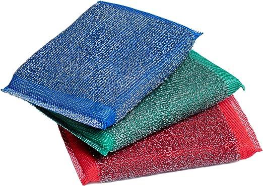 Amazon.com: Almohadillas de estropajo de hierro azul y verde ...