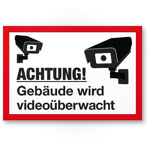 Edificios Cartel de vídeo mediante wacht (Blanco de rojo, 30 ...