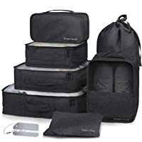Packing Cubes 7 Pcs Travel Luggage Packing Organizers Set with Laundry Bag