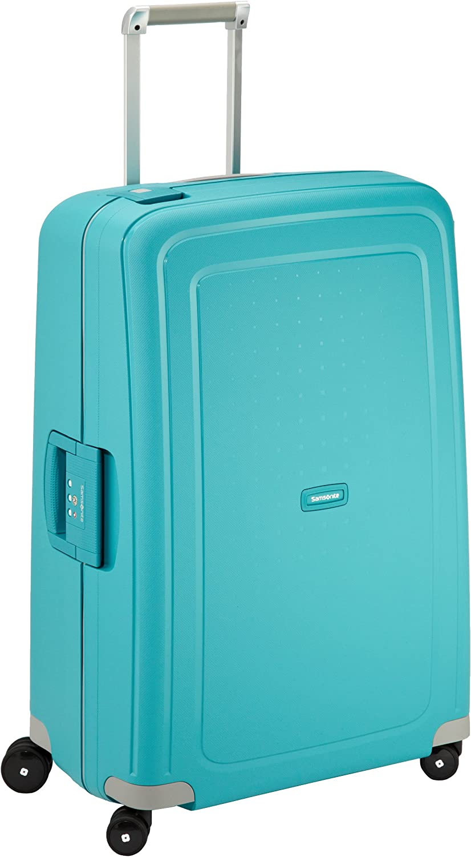 Samsonite S'Cure Spinner - Maleta de equipaje, L (75 cm - 102 L), Azul (Aqua Blue)