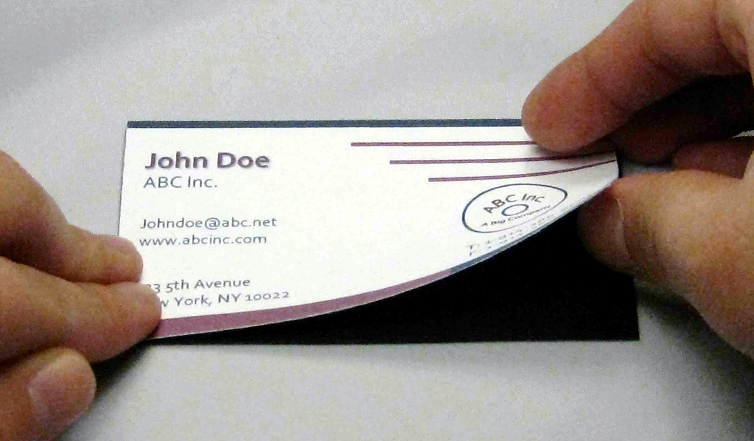 2,000 HIGH-QUALITY SELF-ADHESIVE MAGNETS FOR STANDARD 3.5'' x 2'' BUSINESS CARDS (WITH 14'' X 10'' OPTION)