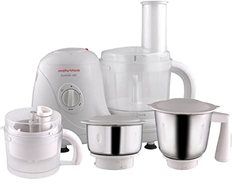 Morphy Richards Essential 600-Watt Food Processor (White) Small Kitchen Appliances at amazon