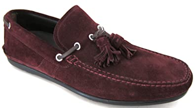 de87c5a1800c Salvatore Ferragamo Amos 3 Mens Burgundy Suede Loafers Shoes Made in Italy  (8 D(