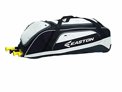 Easton E500W - Bolsa con Ruedas, Color Negro/Blanco, tamaño 36 x 12