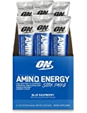 Optimum Nutrition Amino Energy with Green Tea and Green Coffee Extract, Blue Raspberry, 6 Count