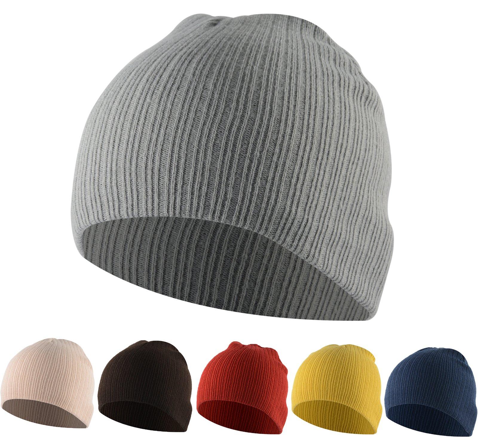 American Trends Toddler Infant Cotton Caps Kids Cute Knit Hat Children Winter Cozy Crochet Multicolor Beanie 6 Pack Beanies