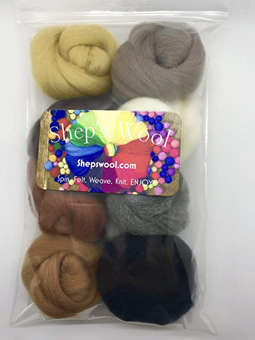Fieltro lana Roving 8 Pack fieltro Kit Merino: Amazon.es: Juguetes y juegos