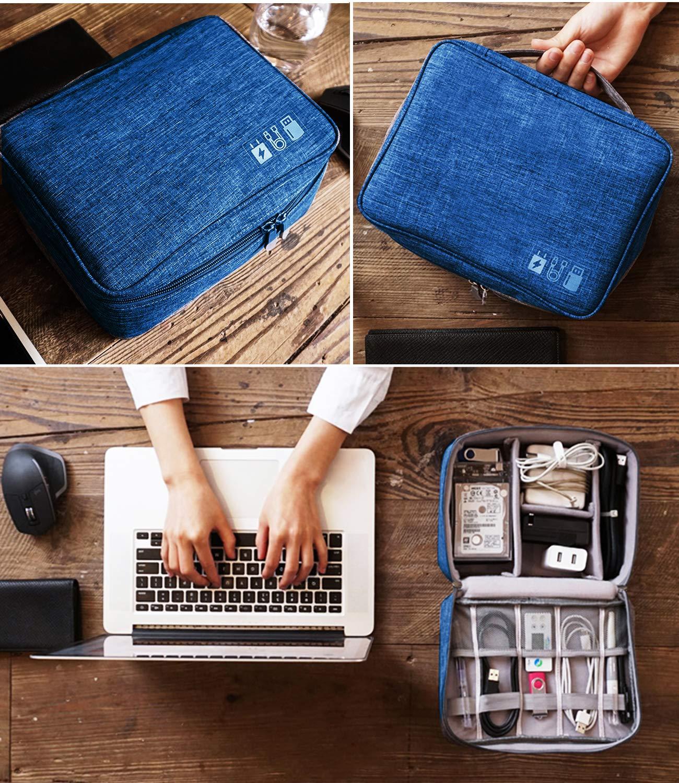 mouse organizer per cavi cuffie nero Nero Custodia elettronica disco rigido esterno e altri accessori elettronici spina scheda SD