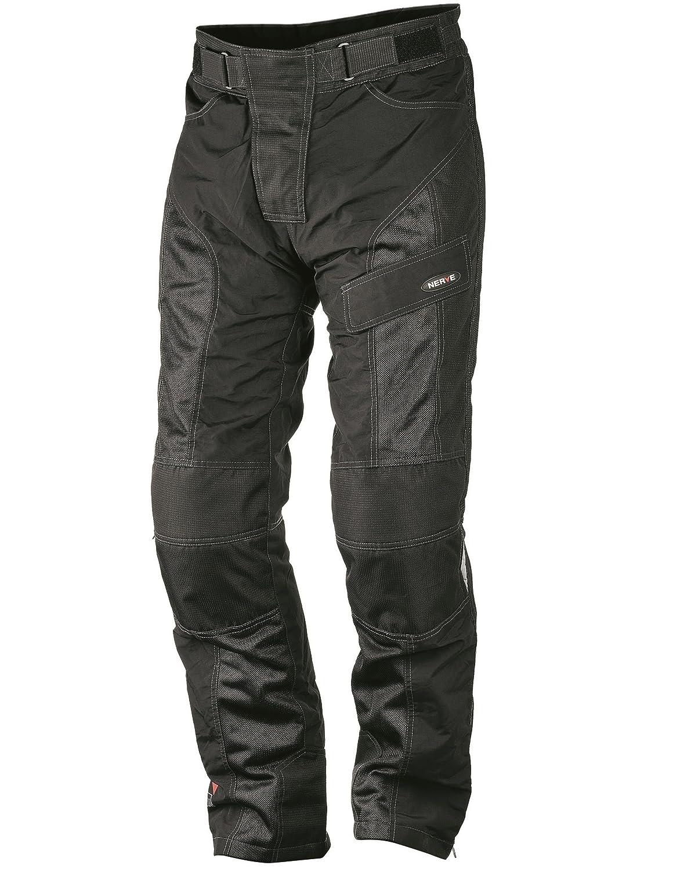 XL Negro Nerve Run Pantalones de Moto de Verano