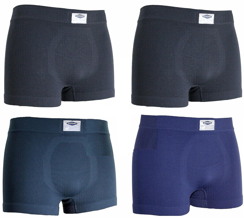 2 neri,1 antracite,1 blu TG.S//M 4 boxer uomo POMPEA microfibra assortiti