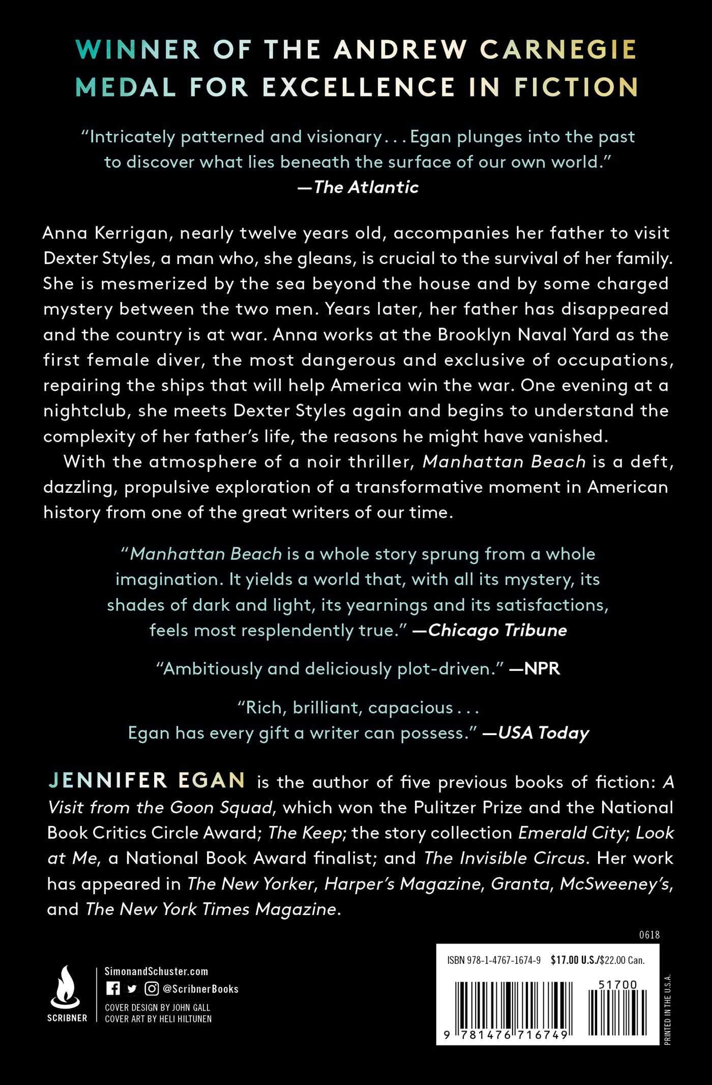 5f826e094 Amazon.fr - Manhattan Beach: A Novel - Jennifer Egan - Livres