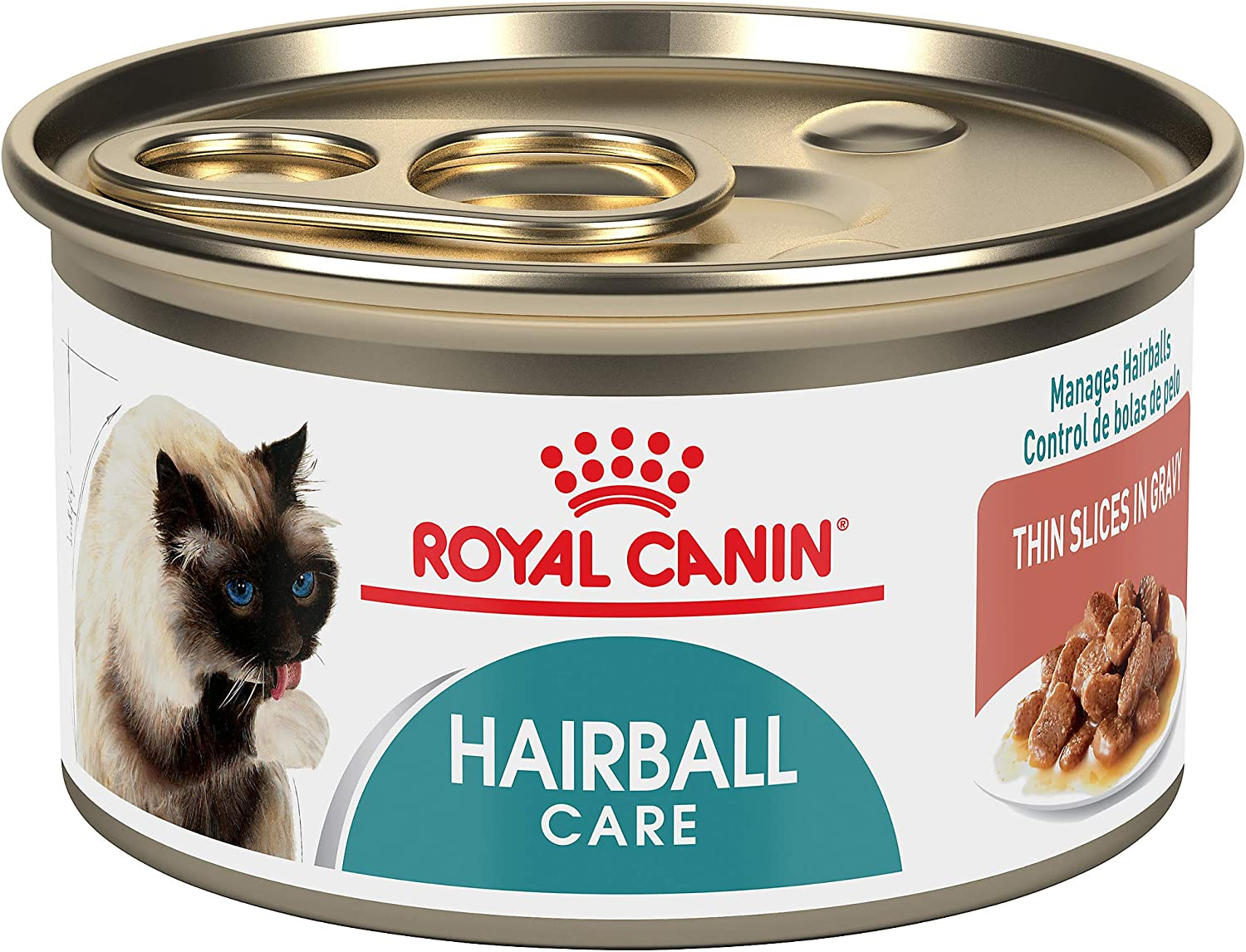 Royal Canin Hairball Care Thin Slices in Gravy Wet Cat Food, 3 oz. can, Pack of 24