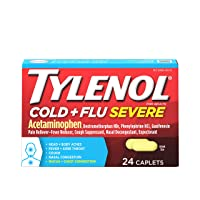 Tylenol Cold + Flu Severe Medicine Caplets for Fever, Pain, Cough & Congestion,...