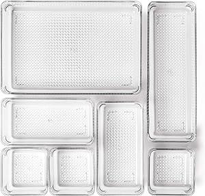 Home Deconizer Premium Quality 7-Piece Desk Drawer Organizer for Makeup,Vanity, Office, Bathroom, Kitchen,Pantry| Multi-Purpose Storage | Durable | Easy to Clean | BPA-Free