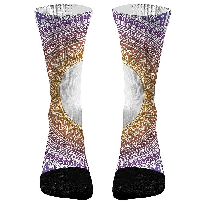 Amazon.com: Yoga Mandala Athletic Compression Dri-Fit Socks ...