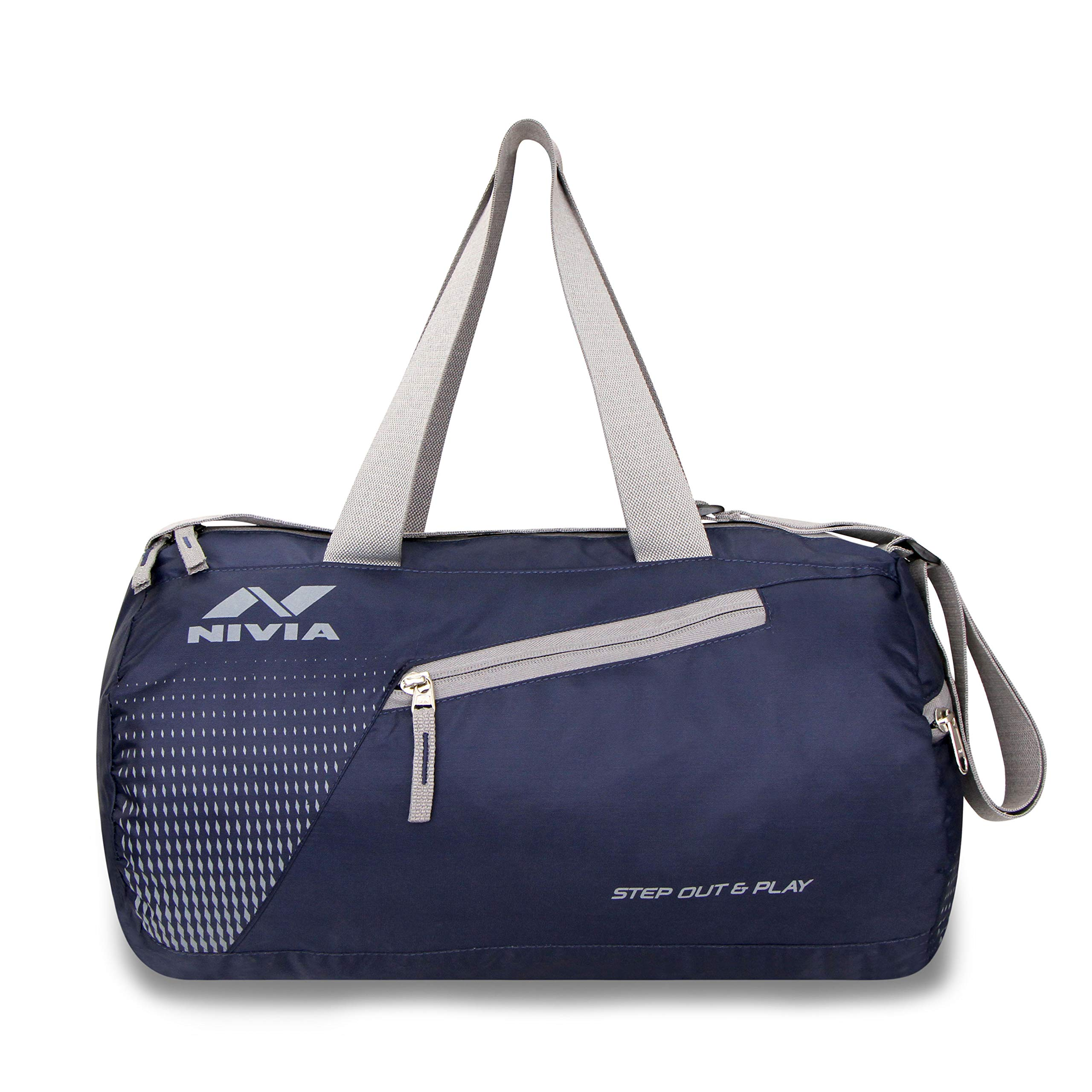 Nivia 5180NG Polyester Deflate Gym Bag (Navy/Grey) (B07PZQNZY5) Amazon Price History, Amazon Price Tracker