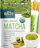 Matcha Green Tea Powder 4oz - Organic Vegan Milky Taste USDA Certified - 137x Antioxidants Over Brewed Green Tea- Great…