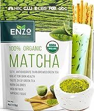 Matcha Green Tea Powder 4oz - Organic Vegan Milky Taste USDA Certified - 137x Antioxidants Over Brewed Green Tea- Great for Matcha Latte