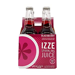 IZZE Sparkling Juice, Blackberry, 12 Fl Oz (pack of 4)